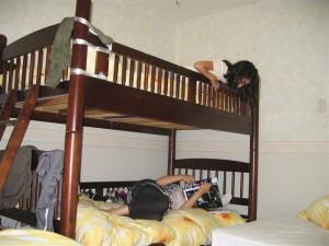 二段ベッド・・・・落ちないようにね